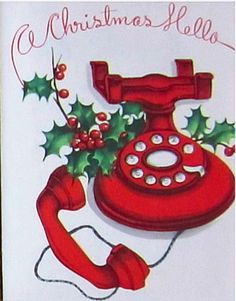 Calling home-A wonderful way to spread joy. Remember to keep in touch with family and friends over the Christmas Holiday.