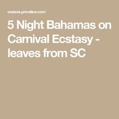 Day Bahamas Cruise From Charleston SC Carnival Cruise Line - Cruises departing from charleston sc