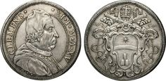 NumisBids: Numismatica Varesi s.a.s. Auction 65, Lot 792 : CLEMENTE XI (1700-1721) Piastra A. XV, Roma. D/ Busto del...