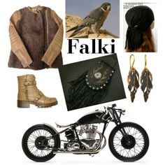 """Falki (Falcon Motorcycles)"" by suziq-lthrs on Polyvore"