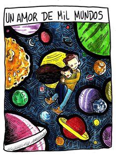 [Felicity] por VickiPairola en We Heart It Catana Comics, Walk The Moon, Beautiful Drawings, First World, Love Quotes, Romance, Illustration, Painting, Feelings