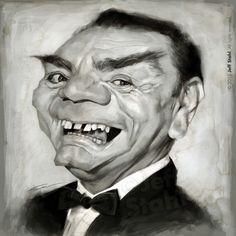 Caricatura de Ernest Borgnine.                                                                                                                                                                                 Más