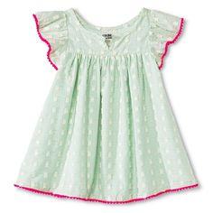 Baby Girls' Clipspot Dress Green - Genuine Kids from Oshkosh™