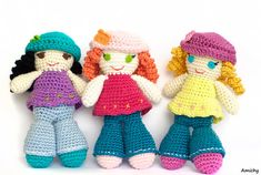 Crochet Pattern , Amigurumi Pattern , How To Crochet A Doll , Instant Download DIY PDF Tutorial for Curly Doll