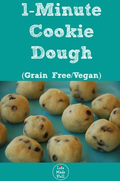 Sometimes you just want to snack on some cookie dough! This 1-Minute Cookie Dough is egg/dairy/grain free!