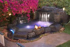 small swimming pools with waterfalls | Information on swim spas, spools and other custom spa options