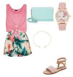 """Summertime Fashion"" by courtney-eckerle on Polyvore featuring Topshop, New Look, Matt Bernson, Kate Spade, Fallon and Kendra Scott"