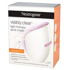 Neutrogena Visibly Clear Light Therapy Acne Mask - Off Light Therapy Acne Mask, Bomb Cosmetics, Male Grooming, How To Treat Acne, Neutrogena, Nail Care, Fragrance, Day, Free Delivery