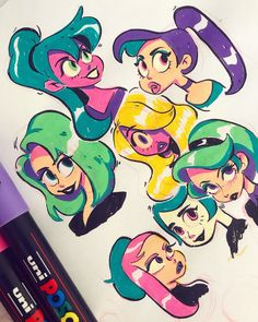 Cartoon Art Styles, Cute Art Styles, Cartoon Drawings, Cute Drawings, Character Art, Character Design, Posca Art, Arte Sketchbook, Art Reference Poses