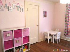 girls bedroom in pinks