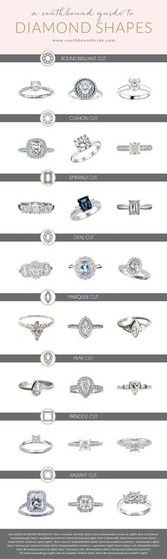 Engagement Rings Guide: Diamond Cuts | SouthBound Bride