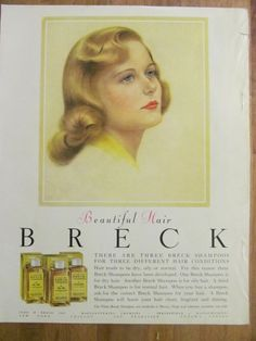 Breck Shampoo, Full Page Vintage Ad