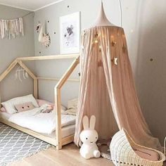 DIY kids deco chambre d enfant DIY kids deco kids room Baby Bedroom, Girls Bedroom, Room Baby, Nursery Room, Canopy Bedroom, Girl Nursery, Nursery Decor, Bedroom Decor, Baby Girl Rooms