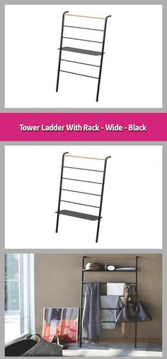 Leaning storage rack Material: steel, wood Dimensions: With a practical shelf No wall mounting required Ideal for hats, scarves, blankets o Storage Rack, Black House, Storage Spaces, Wall Mount, Ladder, Home Accessories, Blankets, Shelf, Scarves