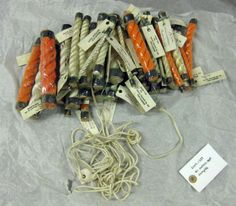 1 rope samples, selection of different diameters and types of polythene rope from Gourock Rope Company, Port Glasgow.  Tyne and Wear Museums and Archives Accession Number: TWCMS : 2009.1239