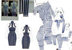Fashion Design Process - line patterns, fashion design flats & development of the final piece; the fashion sketchbook // Nina Lee Lauritzen Textiles Sketchbook, Fashion Design Sketchbook, Fashion Design Portfolio, Fashion Sketches, Fashion Illustrations, Fashion Now, Fashion Line, Cute Fashion, Vintage Dress Patterns