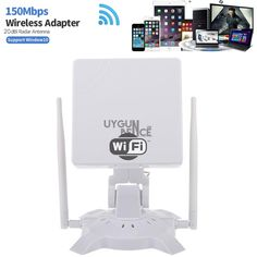 2 Km Menzilli Wireless Alıcı 20dbi - Long Range Wireless Adapter 2000Metre çekim alanı (bulunduğunuz ortamdaki manyetik alanlar, yapılar etkisi alanı düşürebilir) 802.11b/802.11g/802.11n ile uyumludur 150 Mbps akatrım hızı desteği sunamaktadır Bütün wireless şifreleme metodlarını desteklem