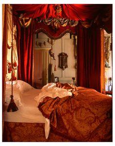 English Manor style bedroom. UK.