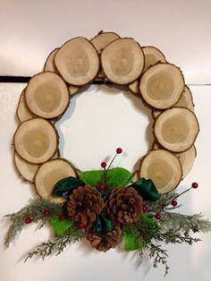 Beautifully rustic Christmas wreath.