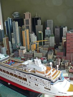 mock up of my n scale cruise ship | thegreatscaper | Flickr