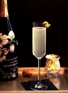 French 75 is a cocktail made from gin, Champagne, lemon juice, and sugar. The drink dates to World War I, and an early form was created in 1915 at the New York Bar in Paris—later Harry's New York Bar—by barman Harry MacElhone. The combination was said to have such a kick that it felt like being shelled with the powerful French 75mm field gun.  French 95 is a variation that substitutes whiskey for the gin