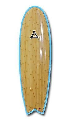 Surfboards 22710: Triple X 62 Blue Bamboo Epoxy Thruster Fin Fishboard Surfboard BUY IT NOW ONLY: $389.99