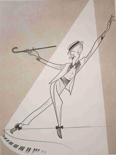Fred Astaire by Al Hirschfeld