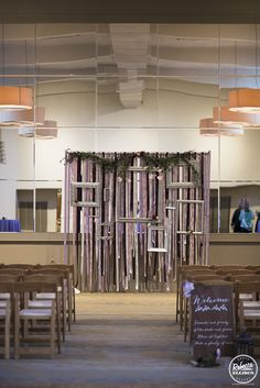 """""""Family and friends of the bride and groom, please sit together there is plenty of room""""  Ceremony in the Vashon Room by Theresa Althauser"""