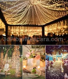 Heres an idea you can use for an outoftheworld outdoor wedding