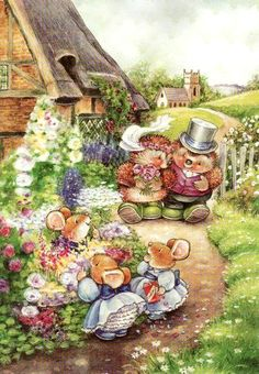 ♥ Country Companions ♥ Beatrix Potter, Mouse Paint, Cute Hedgehog, Cute Little Things, Cute Bunny, Cute Illustration, Cute Wallpapers, Illustrators, Cute Pictures
