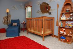 We are having a Noah's ark nursery for our little Jellybean. i love this boat bookcase.