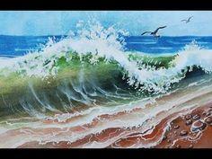 How to DRAW the SEA with WATERCOLORS/come DIPINGERE il MARE /КАК НАРИСОВАТЬ МОРЕ АКВАРЕЛЬЮ - YouTube