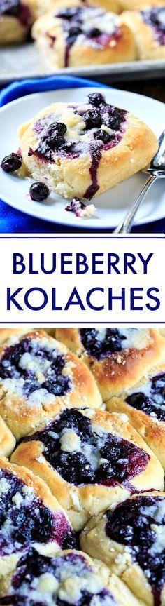 How to make homemade Blueberry Kolaches.