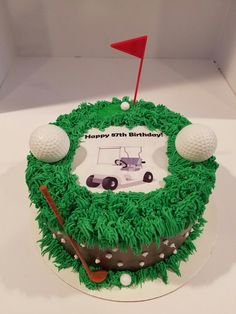 Golf Golf Courses, Birthday Cake, Desserts, Food, Tailgate Desserts, Birthday Cakes, Deserts, Essen, Dessert