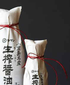""" Kishibori Shoyu is made from good quality whole soybeans, wheat and sea salt. At Takesan Company steamed soybeans, toasted wheat, salt and mineral water are left to ferment in old cider barrels for one. Paper Packaging, Bottle Packaging, Pretty Packaging, Food Packaging, Brand Packaging, Packaging Design, Packaging Ideas, Food Branding, Product Packaging"
