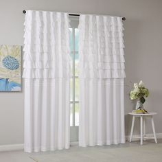 Intelligent Design Demi Ruched Window Curtain Panel