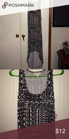 Black & White Summer Dress BNWT! Size Large! Hi/low dress, beautiful! Dresses High Low