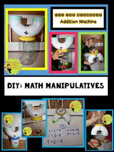 DIY Math Manipulatives! A collection of easy to make math manipulatives that bring math to life.