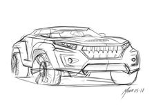 Jeep Concept Vehicle Drawing from We Draw Cars: May 2010