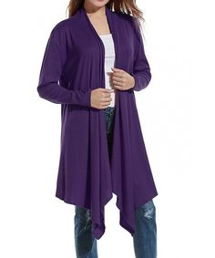 purple sweater short sleeve babydoll overized school vacation edgy cardigan long women vintage 90s violet ladies outfit