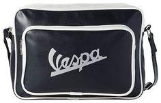 VESPA Bandolera acolchada con bolsillo frontal con cremallera símil piel
