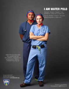 Omar Amr and Margie Dingeldein featured in USA Water Polo's 'I Am Water Polo' cap campaign!