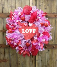 Valentines day wreath by WilliamsFloral on Etsy, $85.00