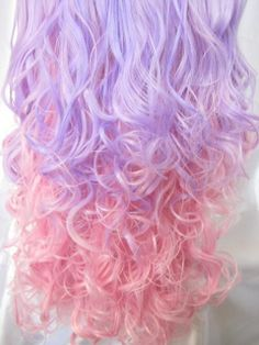 Pastel Pink and Purple curls, so cute!