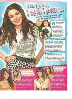 Miranda Cosgrove, Full Page Pinup Clipping