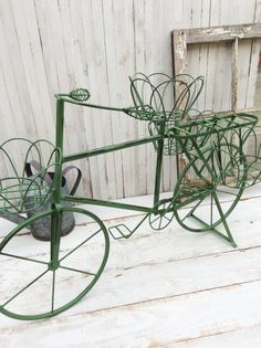 Garden Bicycle Plant Holder, Home Garden Decor, Gift For Mom, Rustic Home,