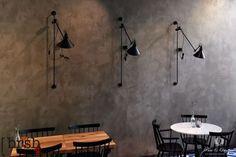 Marrakech Walls in de kleur zinc, toegepast in een restaurant