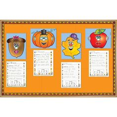 Fall Funny Faces Bulletin Board Kit is perfect for creative writing!
