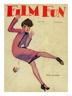 Film Fun Magazine Cover Kunstdruk