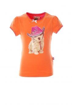 83ba3b377a0180 Bomba for girls Basis t-shirt km met hondje. Fashion for kids. Koflo